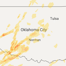 Regional Hail Map for Oklahoma City, OK - Saturday, October 21, 2017