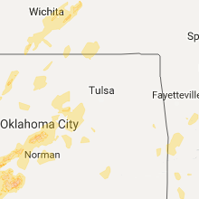 Regional Hail Map for Tulsa, OK - Saturday, October 21, 2017