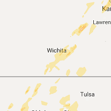 Regional Hail Map for Wichita, KS - Saturday, October 21, 2017