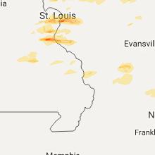 Hail Map for cape-girardeau-mo 2017-11-05