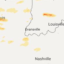 Regional Hail Map for Evansville, IN - Sunday, November 5, 2017