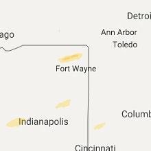 Regional Hail Map for Fort Wayne, IN - Sunday, November 5, 2017