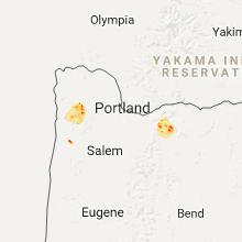 Regional Hail Map for Portland, OR - Wednesday, January 10, 2018
