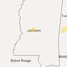 Regional Hail Map for Jackson, MS - Tuesday, February 6, 2018