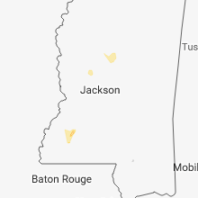 Regional Hail Map for Jackson, MS - Wednesday, February 21, 2018