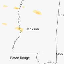 Regional Hail Map for Jackson, MS - Monday, March 5, 2018