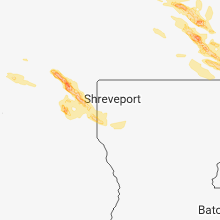 Regional Hail Map for Shreveport, LA - Saturday, March 10, 2018