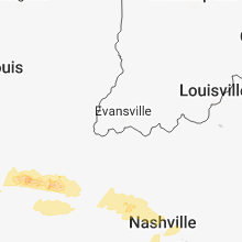 Regional Hail Map for Evansville, IN - Friday, March 16, 2018