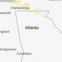 Regional Hail Map for Atlanta, GA - Saturday, March 17, 2018