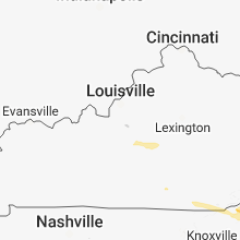 Regional Hail Map for Louisville, KY - Saturday, March 17, 2018