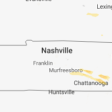 Regional Hail Map for Nashville, TN - Saturday, March 17, 2018