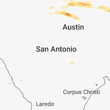 Regional Hail Map for San Antonio, TX - Saturday, March 17, 2018