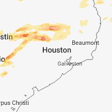 Regional Hail Map for Houston, TX - Sunday, March 18, 2018
