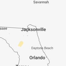 Regional Hail Map for Jacksonville, FL - Sunday, March 18, 2018