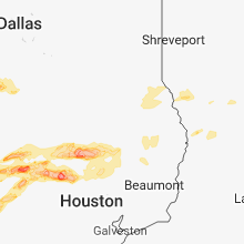 Regional Hail Map for Lufkin, TX - Sunday, March 18, 2018