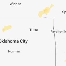 Regional Hail Map for Tulsa, OK - Sunday, March 18, 2018