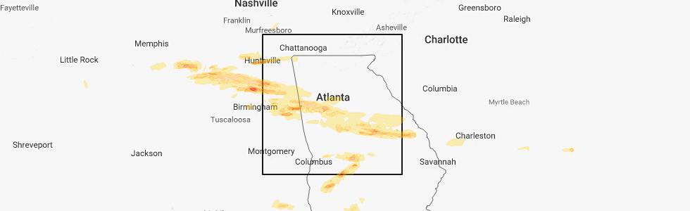 Interactive Hail Maps - Hail Map for Atlanta, GA