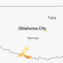 Regional Hail Map for Oklahoma City, OK - Sunday, March 25, 2018