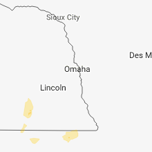 Regional Hail Map for Omaha, NE - Sunday, March 25, 2018