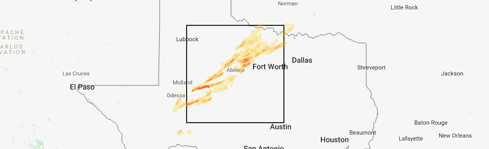Interactive Hail Maps Hail Map for Bowie TX