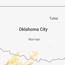Regional Hail Map for Oklahoma City, OK - Monday, March 26, 2018