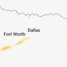 Regional Hail Map for Dallas, TX - Tuesday, March 27, 2018