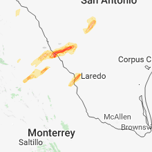 Regional Hail Map for Laredo, TX - Tuesday, March 27, 2018