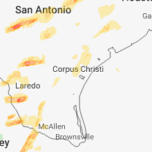 Regional Hail Map for Corpus Christi, TX - Wednesday, March 28, 2018