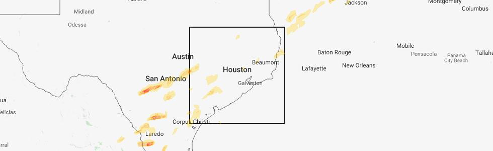 Interactive Hail Maps Hail Map for Crosby TX