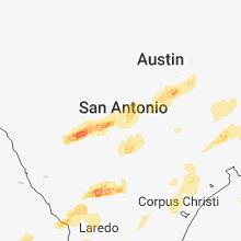 Regional Hail Map for San Antonio, TX - Wednesday, March 28, 2018
