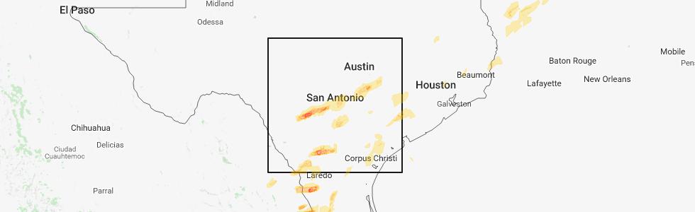 Interactive Hail Maps Hail Map for New Braunfels TX