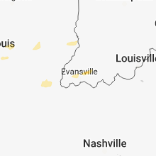 Regional Hail Map for Evansville, IN - Monday, April 2, 2018