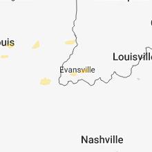 Hail Map for evansville-in 2018-04-02