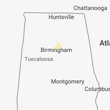 Regional Hail Map for Birmingham, AL - Tuesday, April 3, 2018