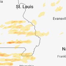 Hail Map for cape-girardeau-mo 2018-04-03