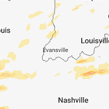 Regional Hail Map for Evansville, IN - Tuesday, April 3, 2018