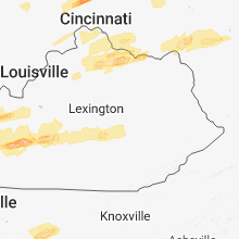 Regional Hail Map for Irvine, KY - Tuesday, April 3, 2018