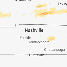 Regional Hail Map for Nashville, TN - Tuesday, April 3, 2018