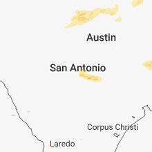 Regional Hail Map for San Antonio, TX - Tuesday, April 3, 2018