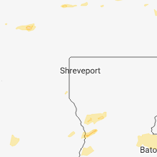 Regional Hail Map for Shreveport, LA - Tuesday, April 3, 2018