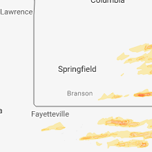 Hail Map for springfield-mo 2018-04-03