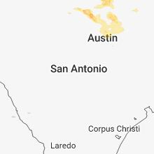 Regional Hail Map for San Antonio, TX - Friday, April 6, 2018