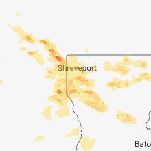 Regional Hail Map for Shreveport, LA - Friday, April 6, 2018