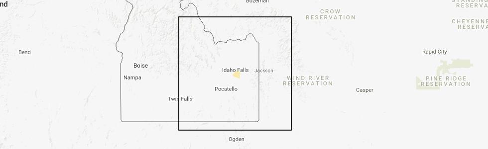 Interactive Hail Maps Hail Map for Idaho Falls ID