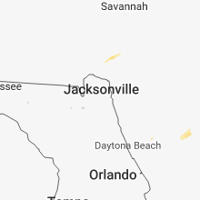Regional Hail Map for Jacksonville, FL - Saturday, April 7, 2018