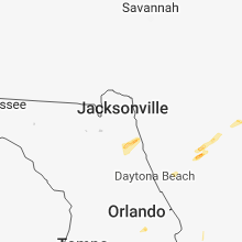 Regional Hail Map for Jacksonville, FL - Tuesday, April 10, 2018