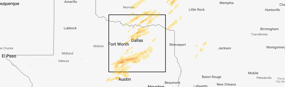 Interactive Hail Maps Hail Map for Waco TX