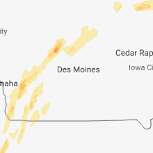 Regional Hail Map for Des Moines, IA - Friday, April 13, 2018