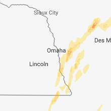 Regional Hail Map for Omaha, NE - Friday, April 13, 2018