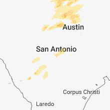 Regional Hail Map for San Antonio, TX - Friday, April 13, 2018
